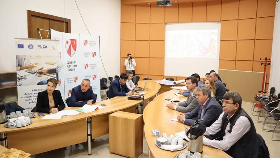 """Întâlnirea de lucru, în vederea analizei de progres privind implementarea proiectului """"Construcția v"""